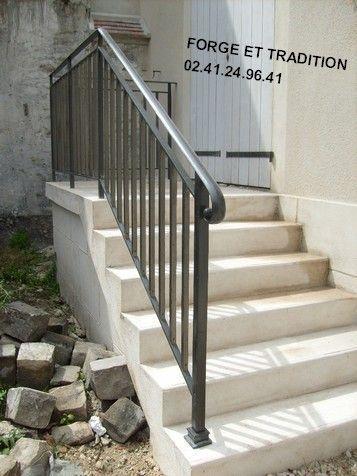 Grille rampe portail balcon fer for Petit escalier exterieur